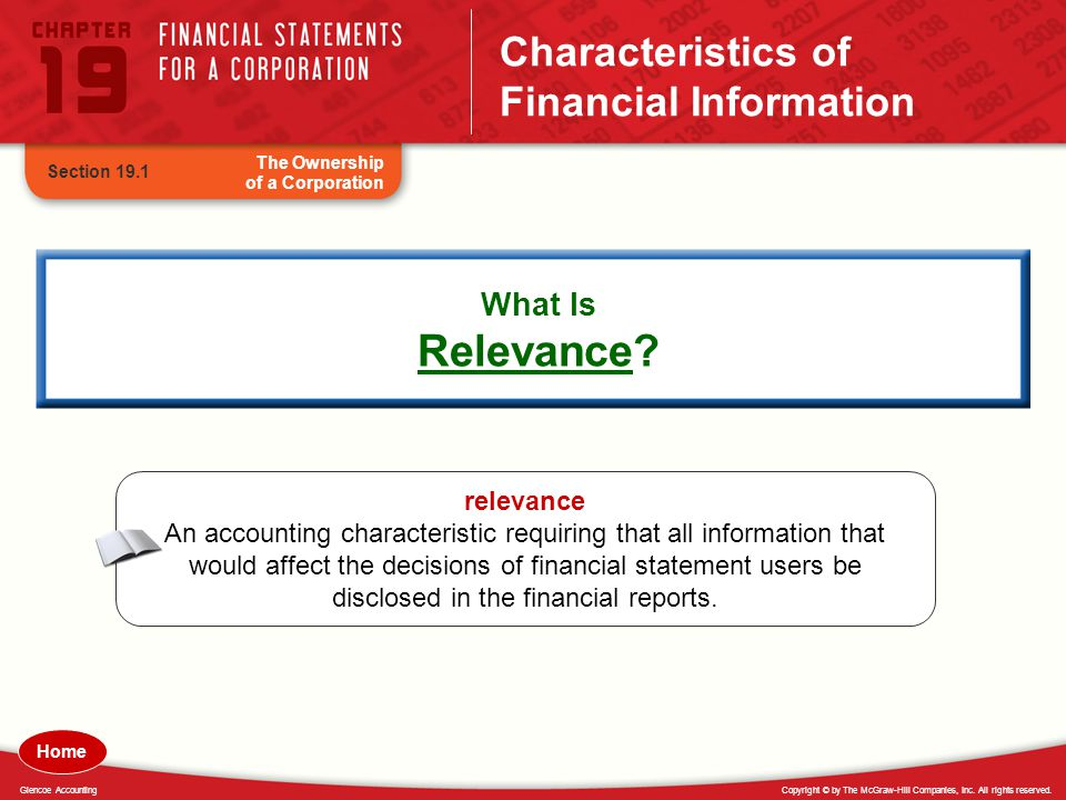 Characteristics of Financial Information