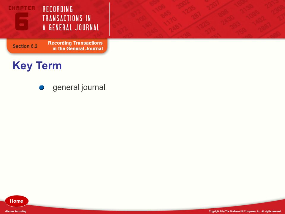 Key Term general journal Recording Transactions in the General Journal