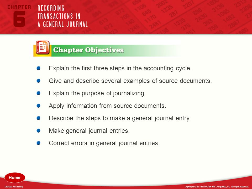 Explain the first three steps in the accounting cycle.