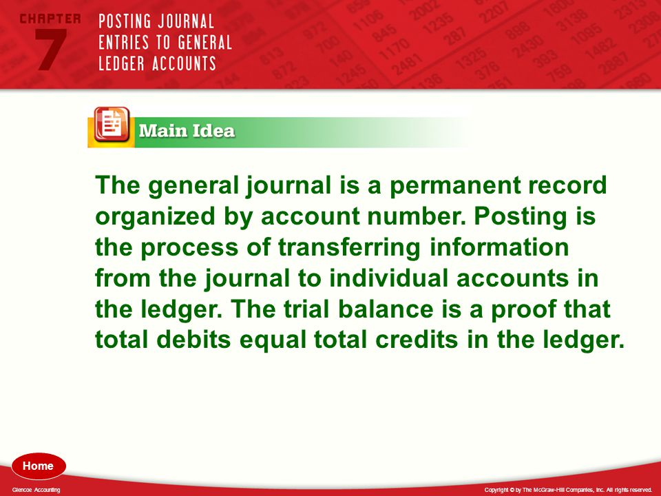 The general journal is a permanent record organized by account number