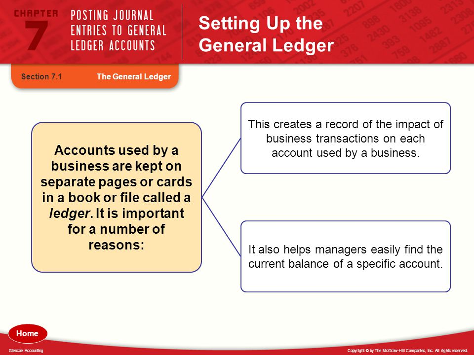 Setting Up the General Ledger