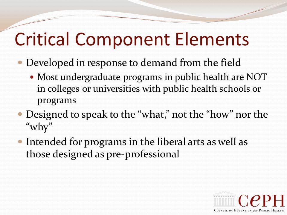 Critical Component Elements