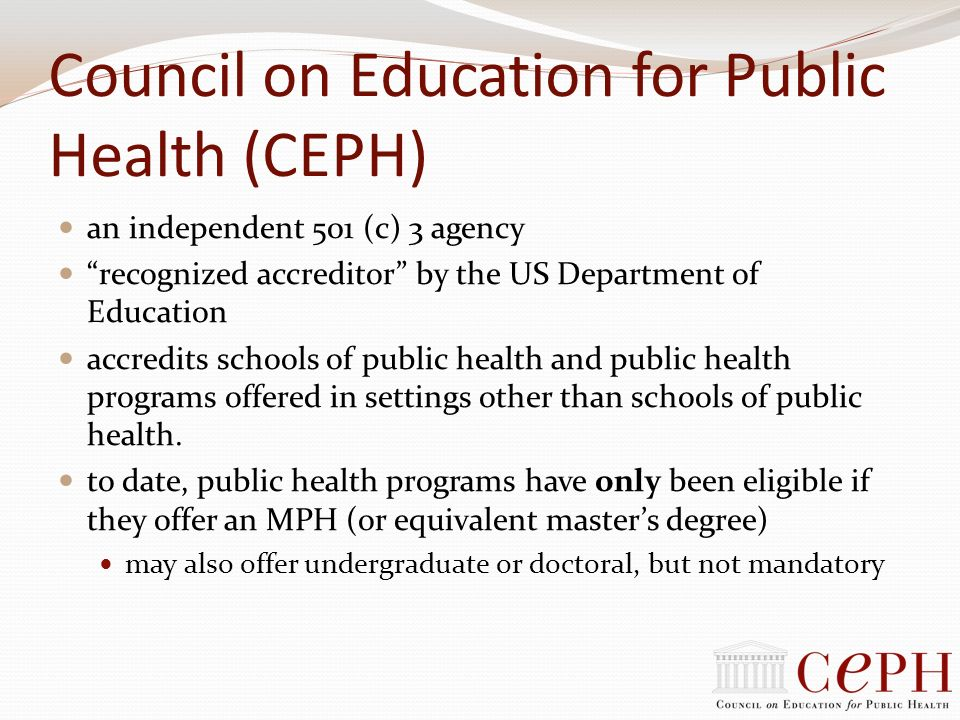 Council on Education for Public Health (CEPH)