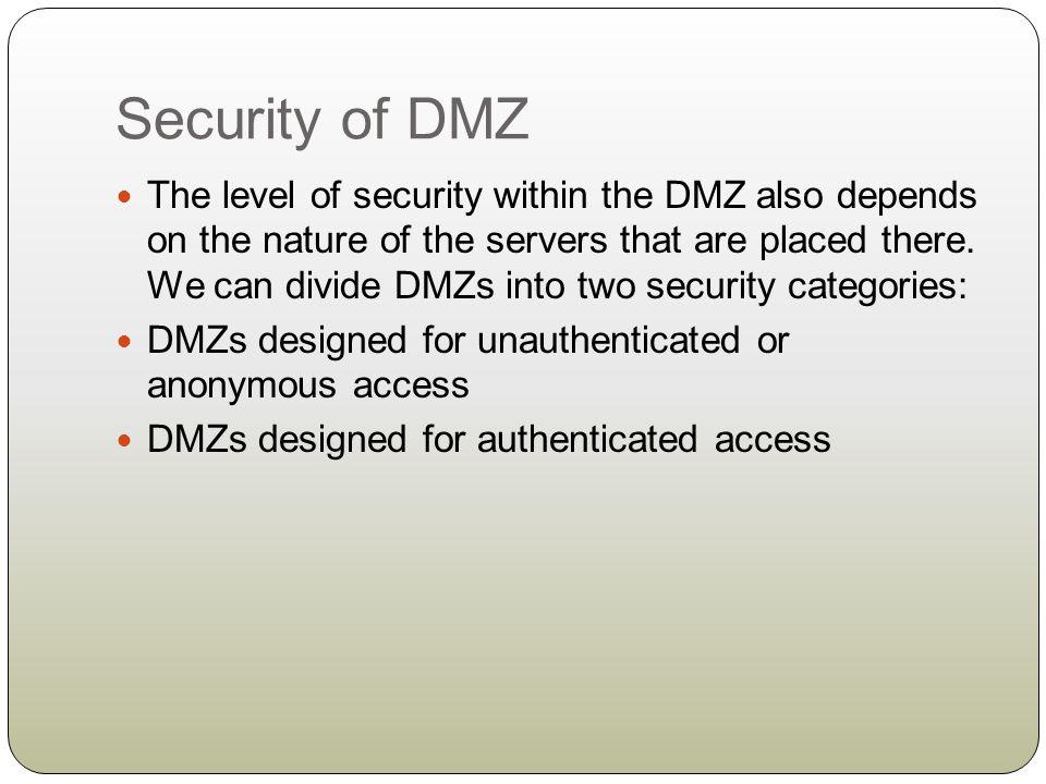 Security of DMZ