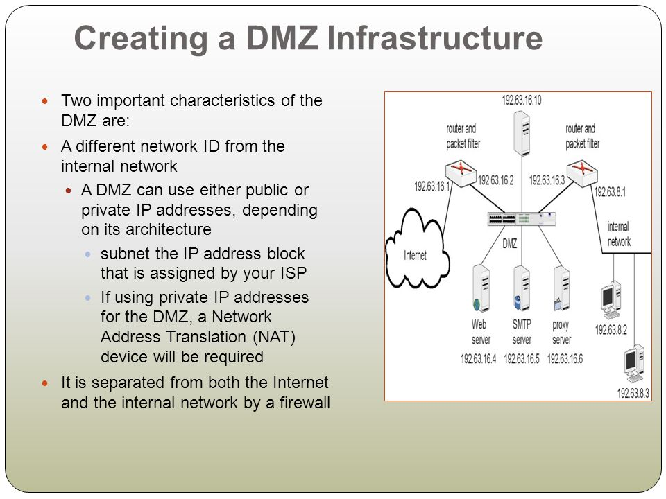 Creating a DMZ Infrastructure