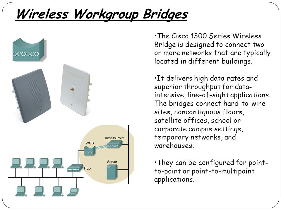 Wireless Workgroup Bridges
