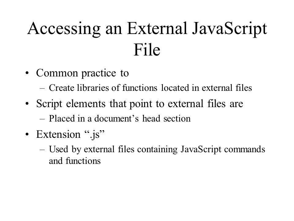 Accessing an External JavaScript File