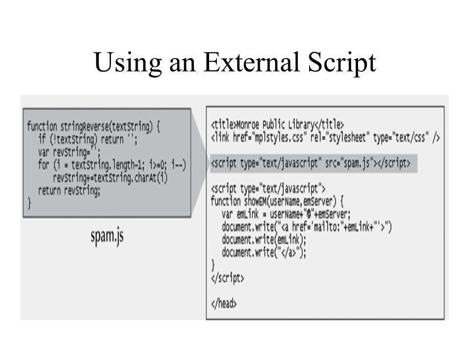 Using an External Script