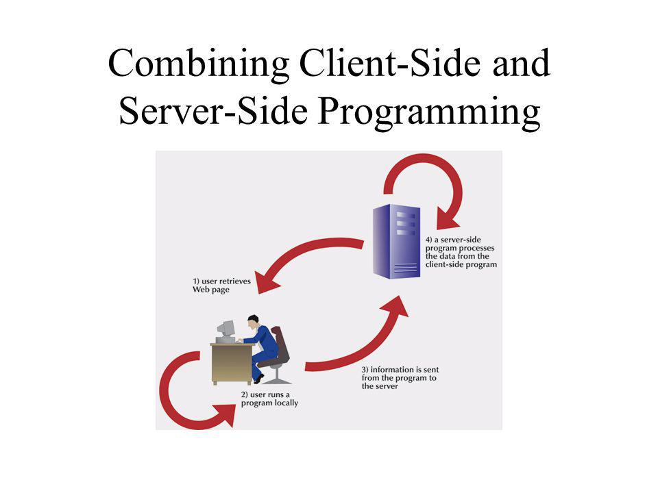 Combining Client-Side and Server-Side Programming