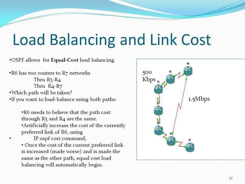 Load Balancing and Link Cost