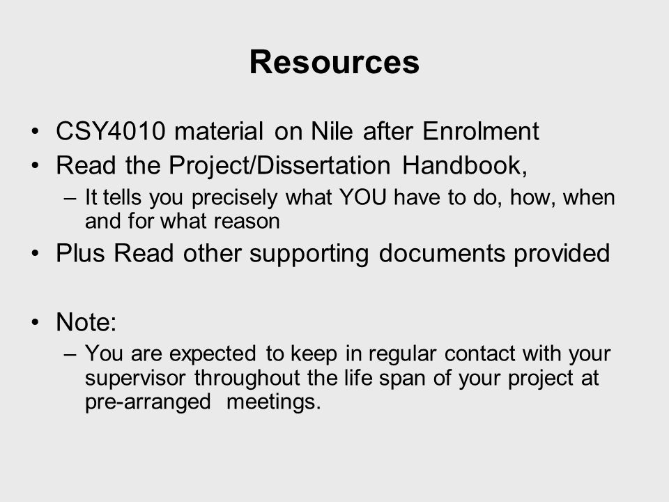 Resources CSY4010 material on Nile after Enrolment