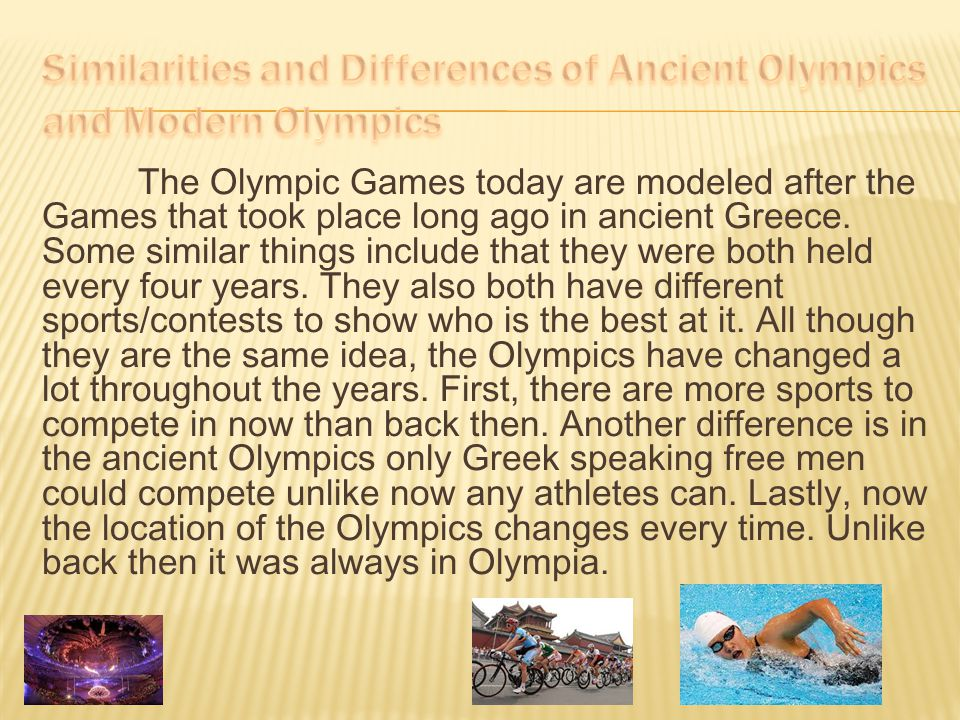 Similarities and Differences of Ancient Olympics and Modern Olympics