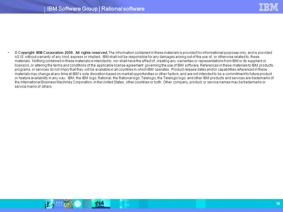 © Copyright IBM Corporation All rights reserved