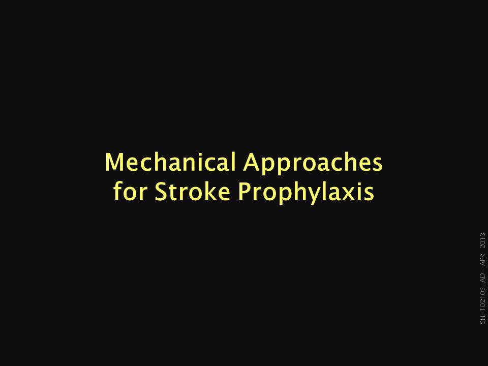 Mechanical Approaches for Stroke Prophylaxis