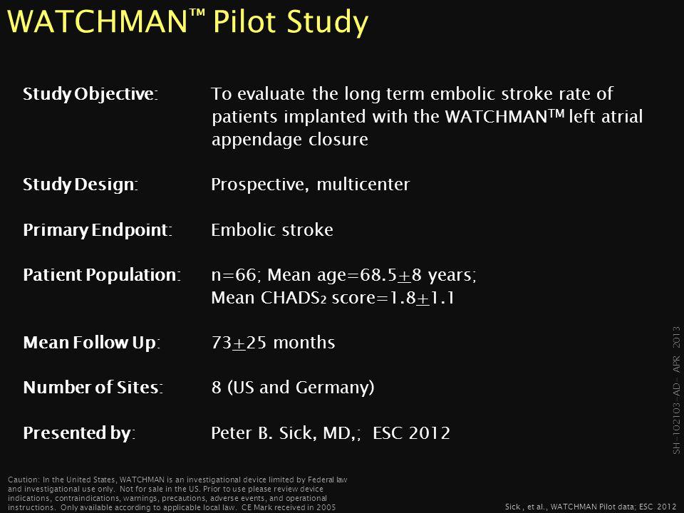 WATCHMAN™ Pilot Study