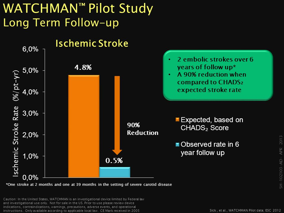 WATCHMAN™ Pilot Study Long Term Follow-up
