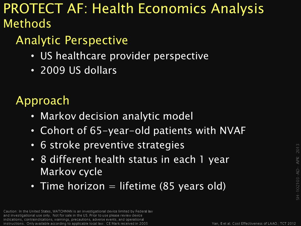PROTECT AF: Health Economics Analysis Methods