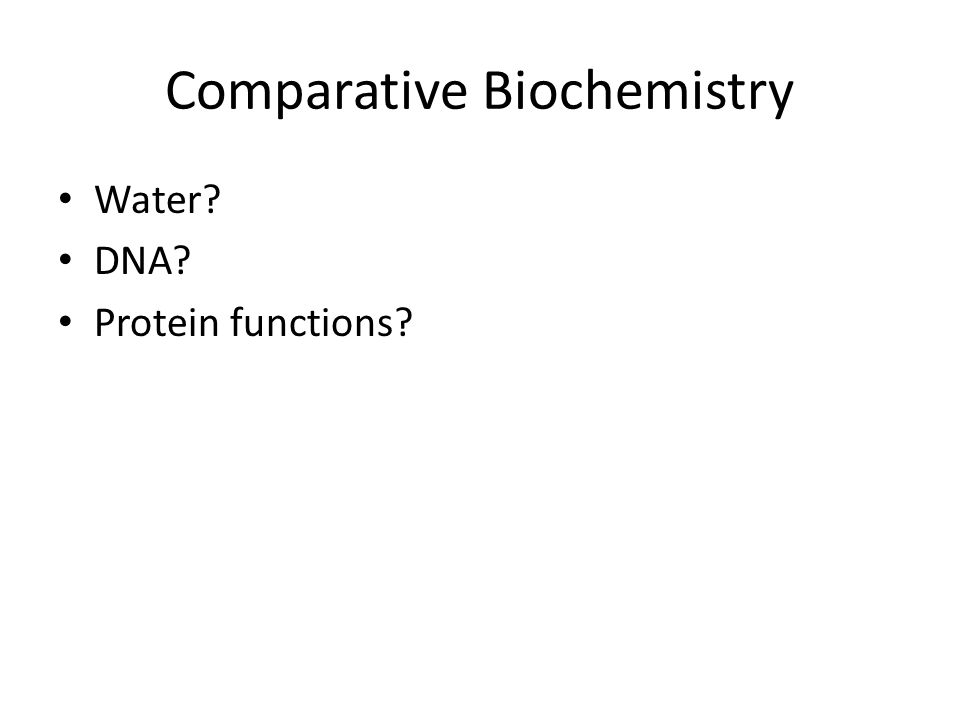 Comparative Biochemistry