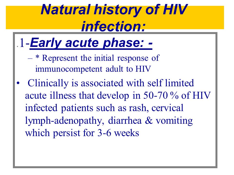 Natural history of HIV infection: