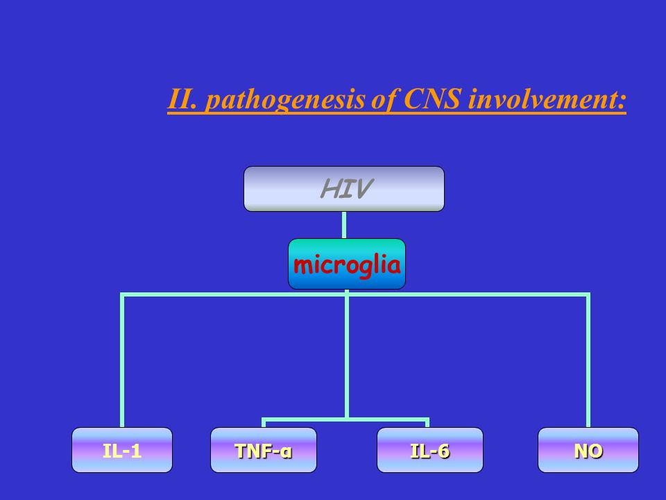 II. pathogenesis of CNS involvement: