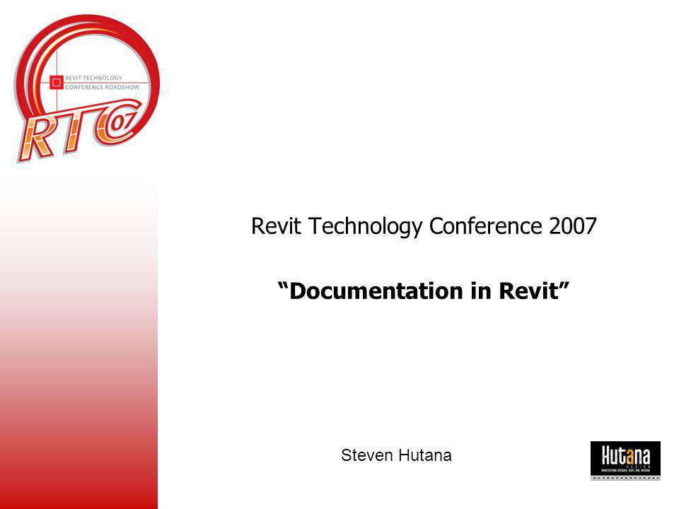 Documentation in Revit