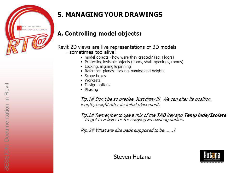 5. MANAGING YOUR DRAWINGS