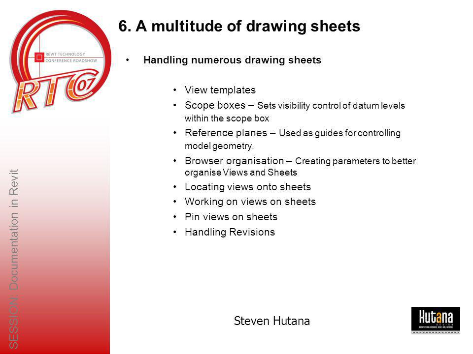 6. A multitude of drawing sheets