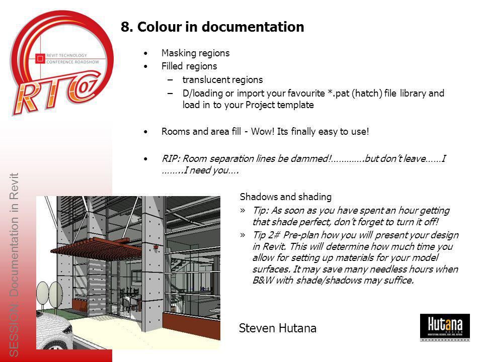8. Colour in documentation
