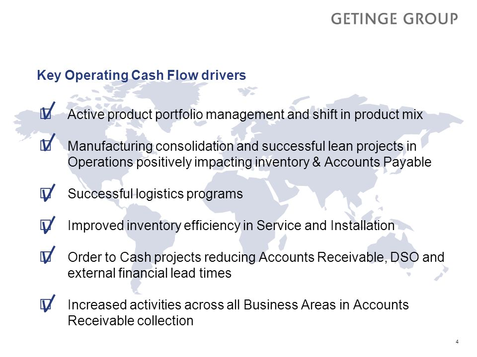 Key Operating Cash Flow drivers