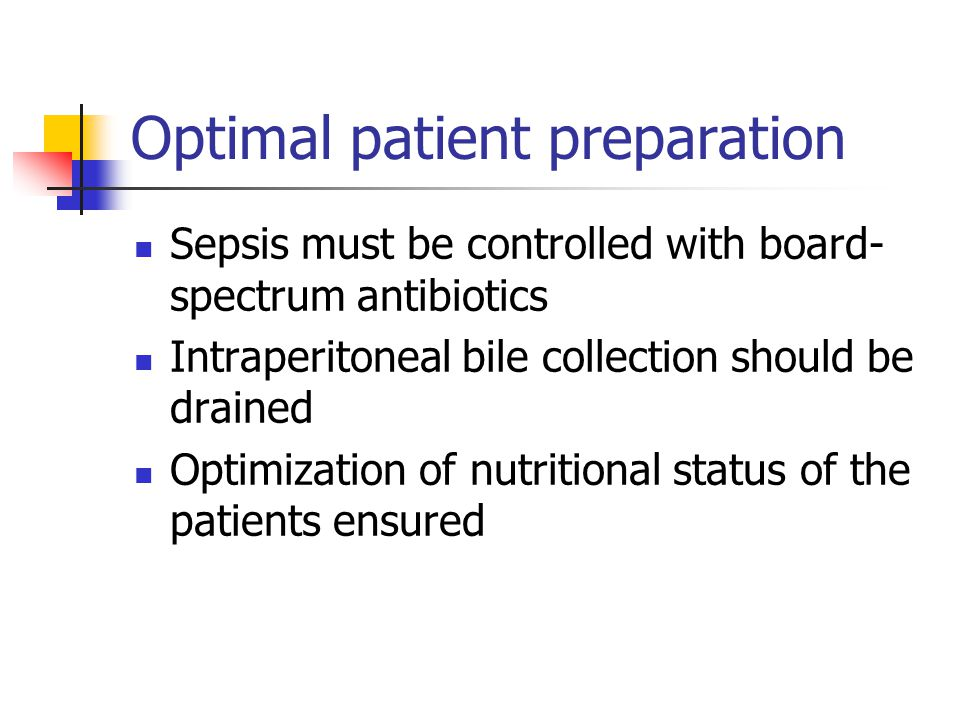 Optimal patient preparation