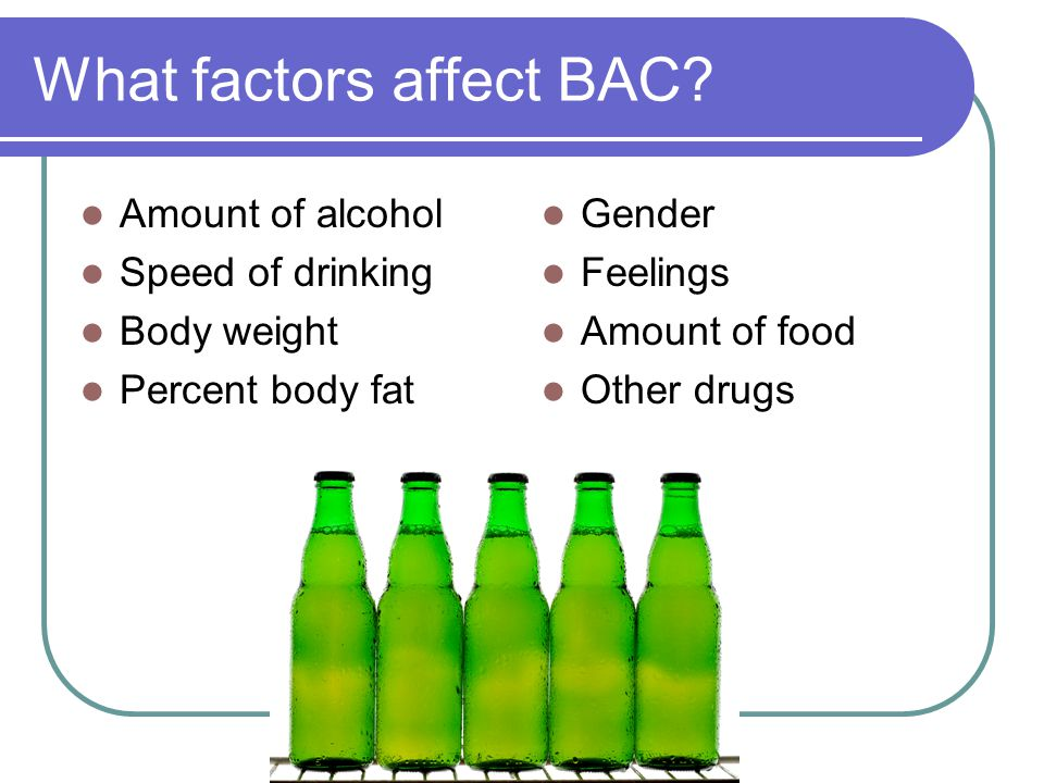 What factors affect BAC