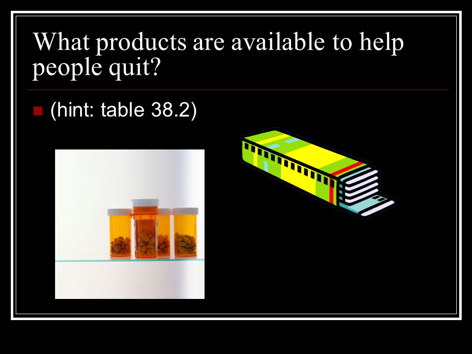 What products are available to help people quit