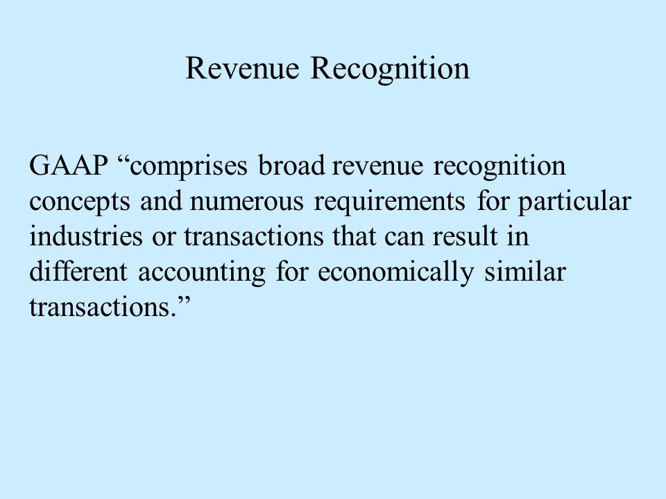 Revenue Recognition