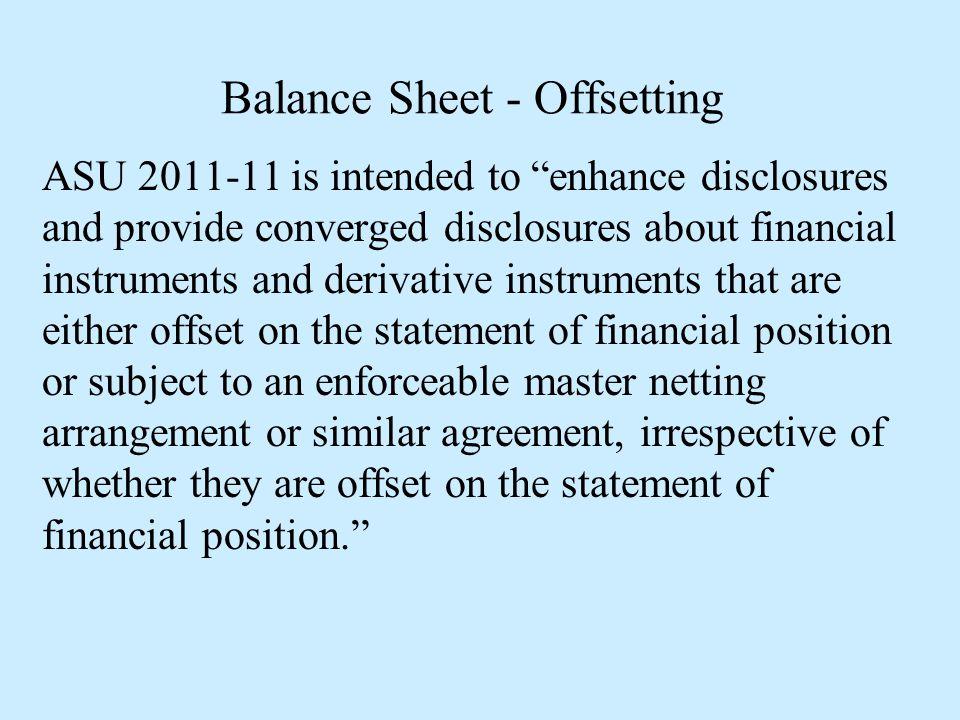Balance Sheet - Offsetting