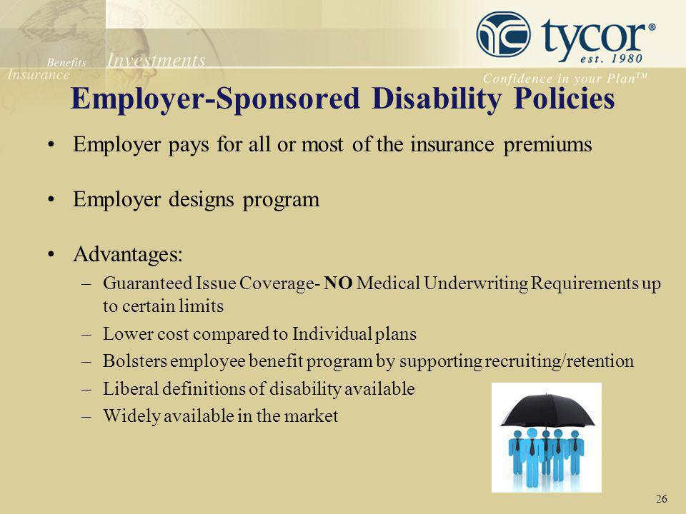 Employer-Sponsored Disability Policies