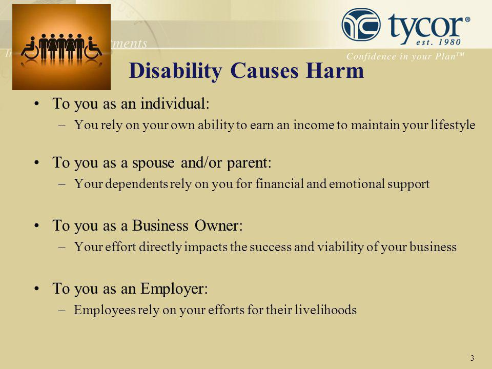 Disability Causes Harm