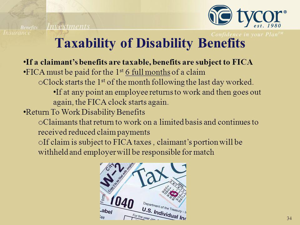 Taxability of Disability Benefits