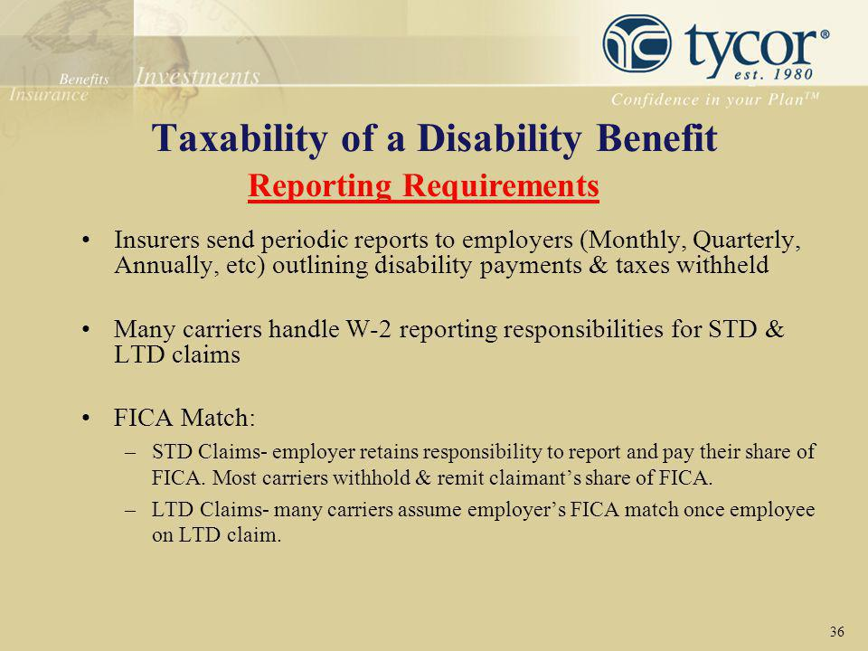Taxability of a Disability Benefit