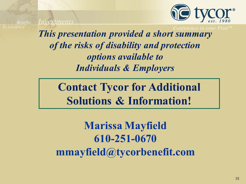 Contact Tycor for Additional Solutions & Information!