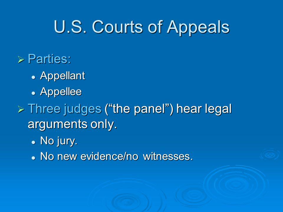 U.S. Courts of Appeals Parties: