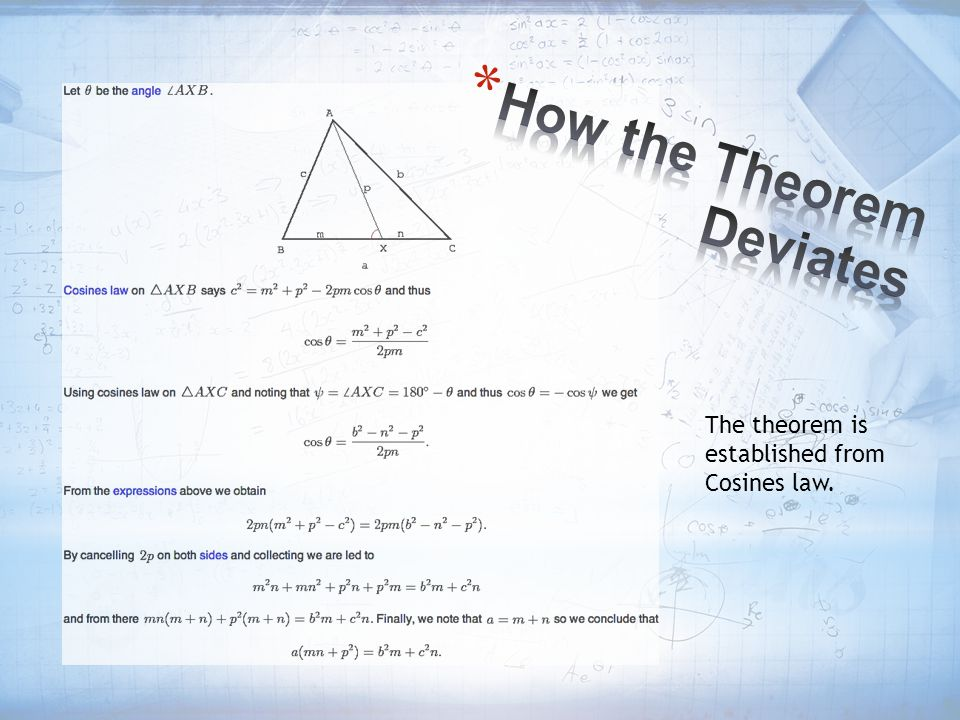 How the Theorem Deviates