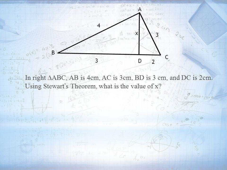 A 4. x. 3. B. C. 3. D. 2.