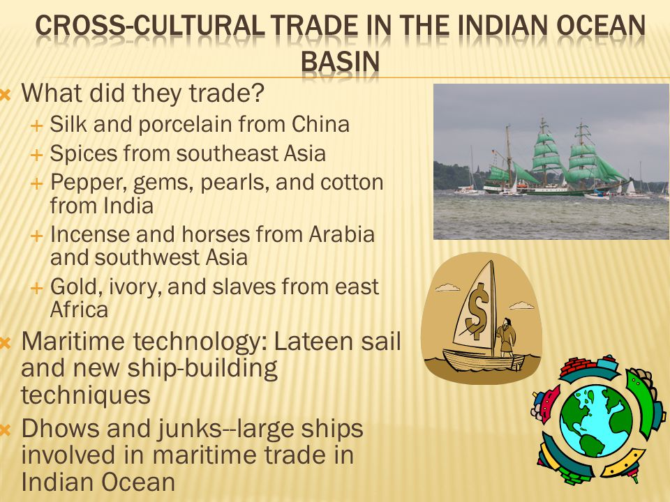 Cross-Cultural trade in the Indian Ocean Basin