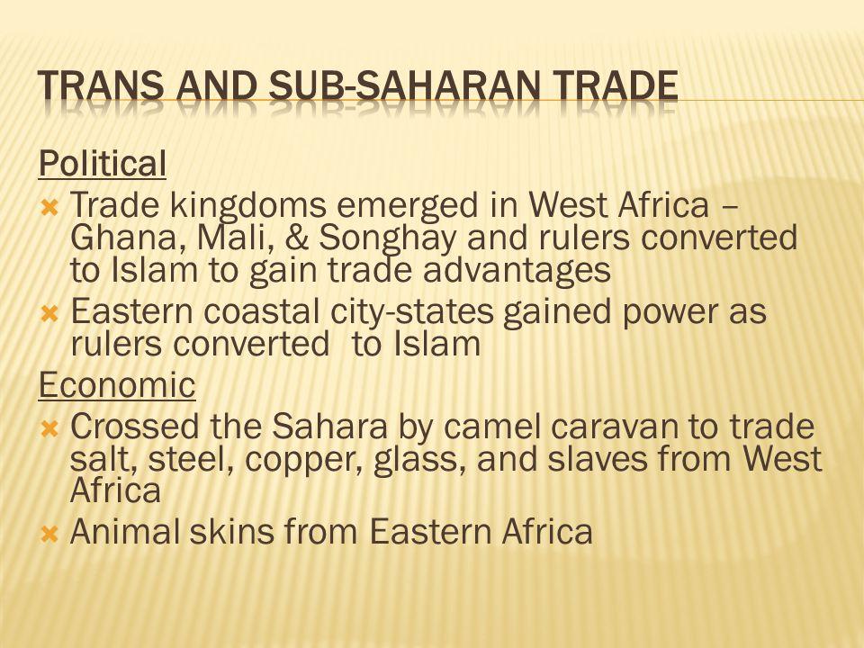 Trans and Sub-Saharan Trade
