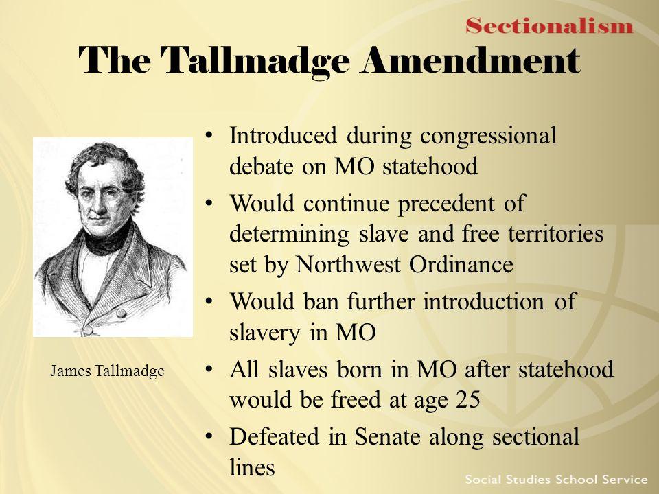 The Tallmadge Amendment