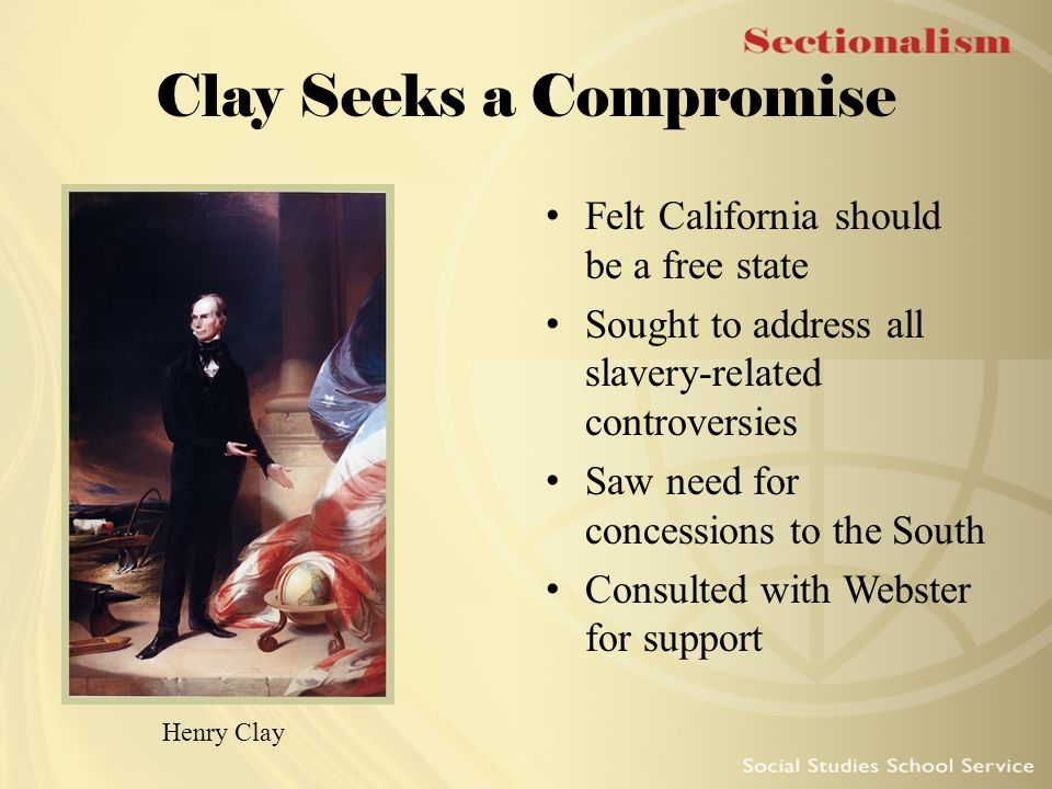 Clay Seeks a Compromise