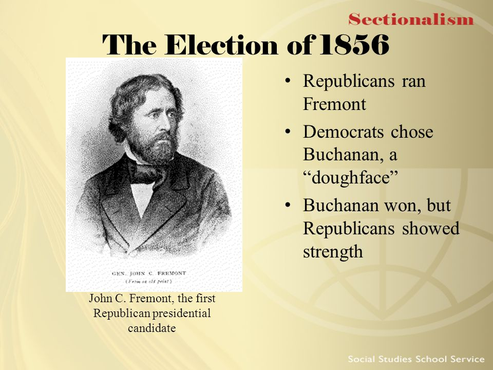 John C. Fremont, the first Republican presidential candidate