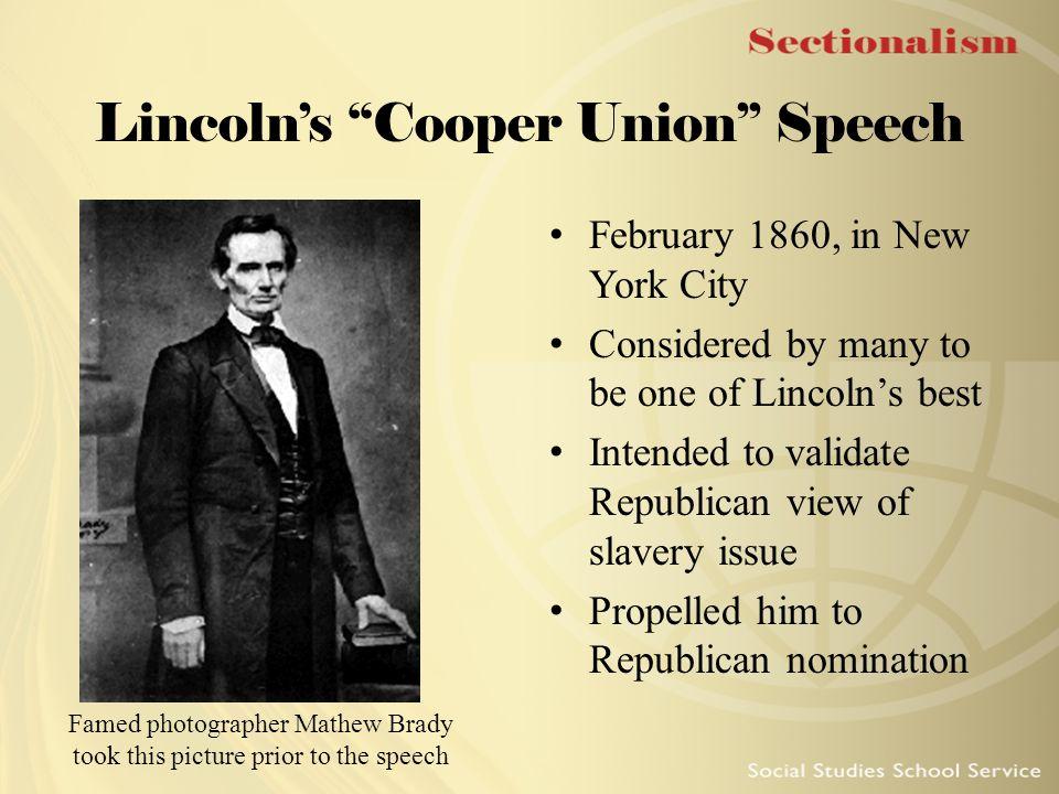 Lincoln's Cooper Union Speech