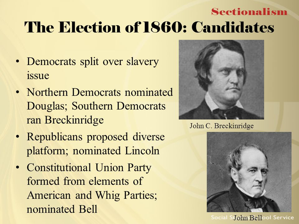 The Election of 1860: Candidates