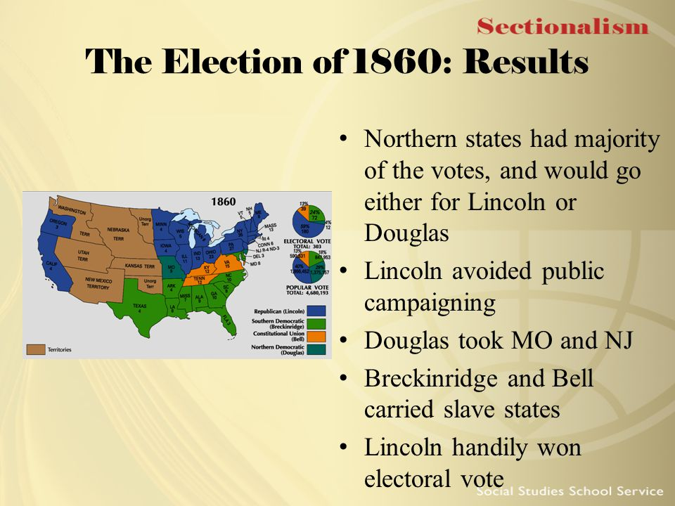 The Election of 1860: Results